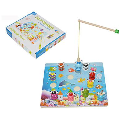 rybářské hračky Hračky Obdélníkový Magnetické Dřevo Dětské Pieces