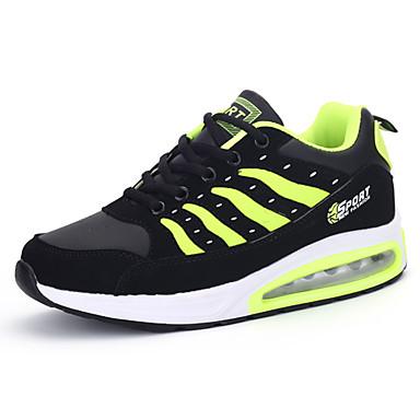 Homens sapatos Couro Ecológico Primavera Verão Amantes Conforto Tênis Cadarço para Diário Esportes Casual Branco Azul Escuro Vermelho