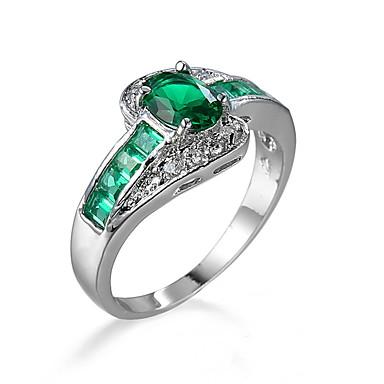 Women's Men's Ring Emerald Unique Design Fashion Euramerican Jewelry Jewelry For Wedding Special Occasion Anniversary