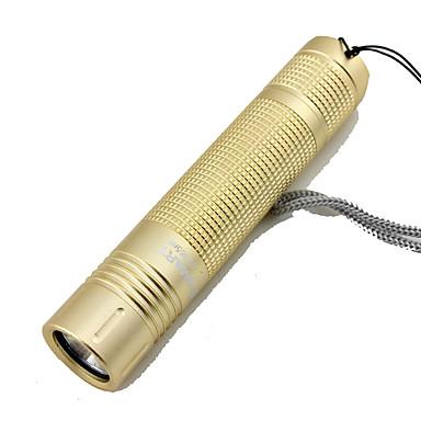 LED taskulamput Laturit LED 100 lm 3 Tila Valot Ultraviolet Light Telttailu/Retkely/Luolailu Kulta Musta