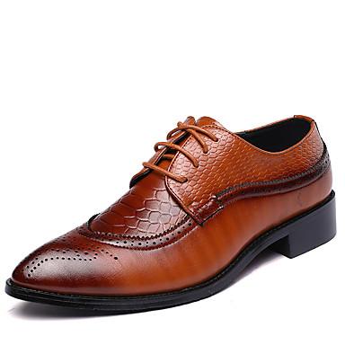 2ee235e7af Homens Sapatos formais Couro Primavera   Outono Formais Oxfords Caminhada  Preto   Marron   Vermelho   Casamento   Festas   Noite   Combinação   Festas  ...