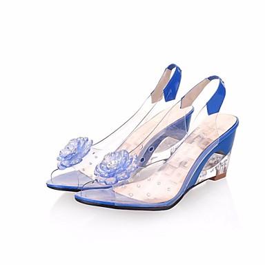 Naiset Kengät PU Kesä Sandaalit Käyttötarkoitus Keltainen Punainen Sininen