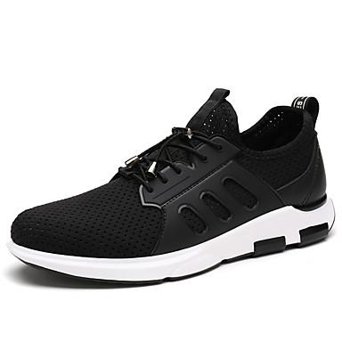 Pánské Obuv PU Léto Podzim Pohodlné lehké Soles Atletické boty Chůze pro Sportovní Venkovní Černá Barva obrazovky