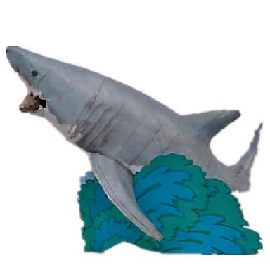 3D Puzzles Paper Model Paper Craft Model Building Kit Fish Shark DIY Hard Card Paper Classic Kid's Boys' Unisex Gift