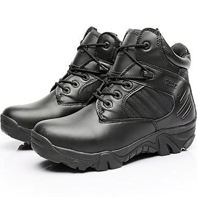 Miehet Bootsit Comfort PU Kevät Kausaliteetti Musta Manteli Alle 1in