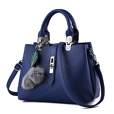 Women Bags PU Shoulder Bag for Casual Office & Career All Seasons Blue Black Blushing Pink