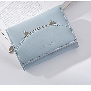 Women Coin Purse PU Polyester All Seasons Casual Outdoor Square Without Zipper Black Blushing Pink Light Blue