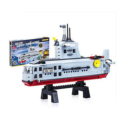 JIE STAR Blocos de Construir Brinquedos de Montar Quadrada Pato Barco de Guerra Para Meninos Unisexo Brinquedos Dom