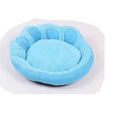 Cachorro Camas Animais de Estimação Cestos Sólido Pegada / Paw Quente Macio Lavável Roxo Azul Para animais de estimação