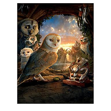 Palapeli Neliö Uutuudet Ankka Eagle Owl Puinen Puu Anime Unisex Lahja