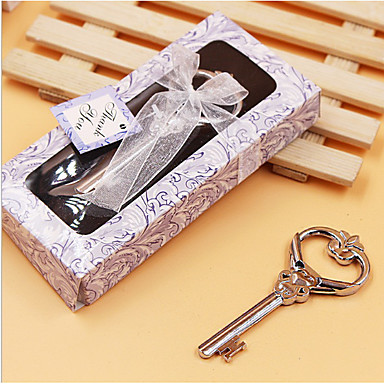 Rustic Theme Bottle Openers Chrome Bottle Favor With 3 1/2