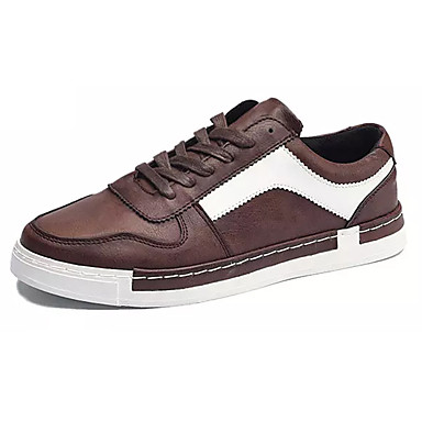 Men's Shoes Breathable Mesh Leather Spring Fall Light Soles Sneakers Lace-up for Casual Black Brown Khaki