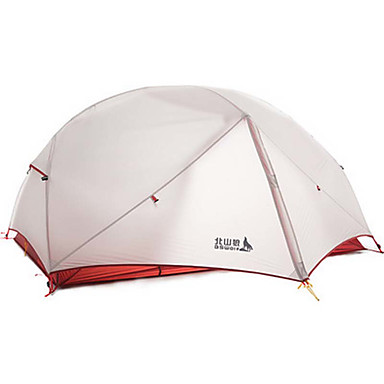 BSwolf 2 persons Tent Double Camping Tent One Room Fold Tent Waterproof Rain-Proof Dust Proof Foldable Lightweight for Camping / Hiking
