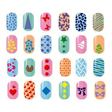 voordelige Nieuwe aankomsten voor nagel-10 pcs Stempelplaat Sjabloon Modieus Design Nagel kunst Manicure pedicure Stijlvol / Modieus Dagelijks / stempelen Plate