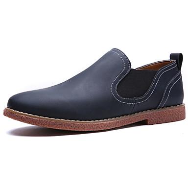 Homens sapatos Couro Ecológico Primavera Outono Conforto Mocassins e Slip-Ons para Ao ar livre Azul Castanho Claro Castanho Escuro