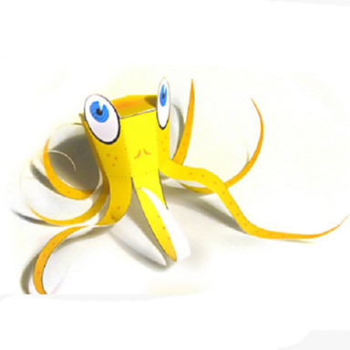 3D Puzzle Paper Model Paper Craft Fish Octopus DIY Hard Card Paper Classic Kid's Unisex Gift