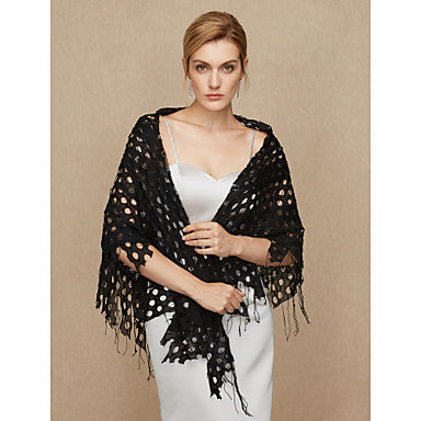 Cotton Wedding Party / Evening Women's Wrap With Tassel Shawls