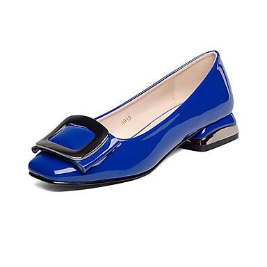 Naiset Korkokengät muodollinen Kengät Tekonahka Kevät Syksy muodollinen Kengät Leveä korko Valkoinen Musta Sininen Manteli 5in tai enemmän