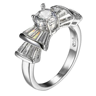 Women's Ring Settings Ring Band Ring Cubic Zirconia Personalized Luxury Geometric Circular Unique Design Classic Rhinestone Basic British