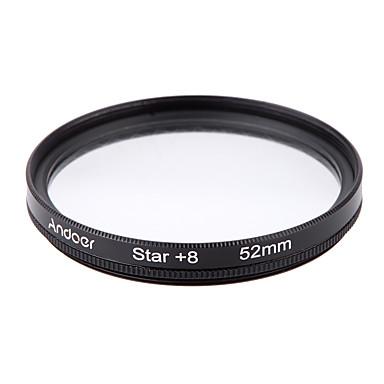 Andoer 52mm filter sett uv cpl star 8-punkts filtersett med etui til Canon Nikon Sony DSLR-kameraobjektiv