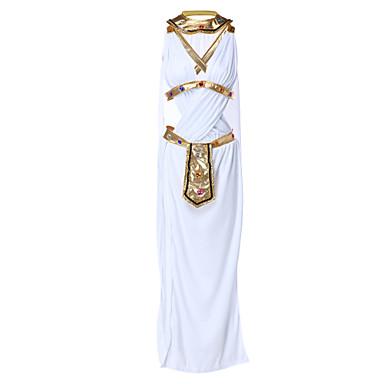 Ägyptische Kostüme Film / Fernsehen Thema Kostüme Kleopatra Cosplay Kostüme Party Kostüme Damen Halloween Fest / Feiertage Halloween Kostüme Austattungen Weiß Solide Antikes Ägypten