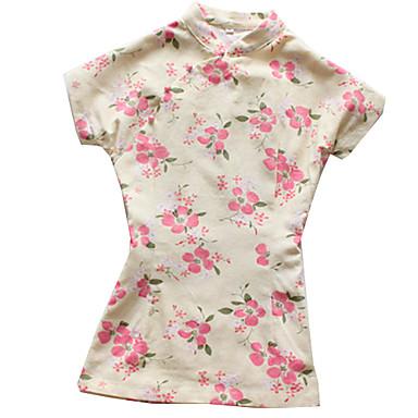 Bluse/Skjorte Klassisk og Tradisjonell Lolita Vintage Inspireret Cosplay Lolita-kjoler Trykt mønster Vintage Topp Til Bomull