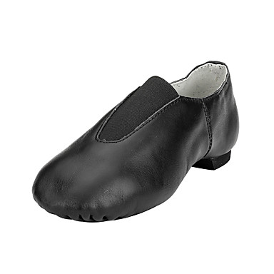 Women's Jazz Shoes Leatherette Flat Flat Heel Non Customizable Dance Shoes Black / Brown / Performance