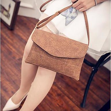 Women Shoulder Bag PU All Seasons Casual Outdoor Round Magnetic Black Brown