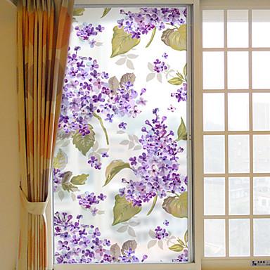 Window Film & Stickers Decoration Floral Floral PVC / Vinyl Window Sticker / Living Room