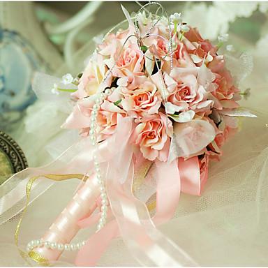 Wedding Flowers Bouquets Wedding Organza Satin 9.84