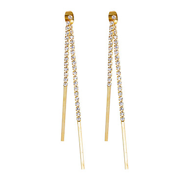 Women's Drop Earrings Earrings Set Earrings Rhinestone Basic Pendant Euramerican Fashion Personalized Simple Style British Classic DIY