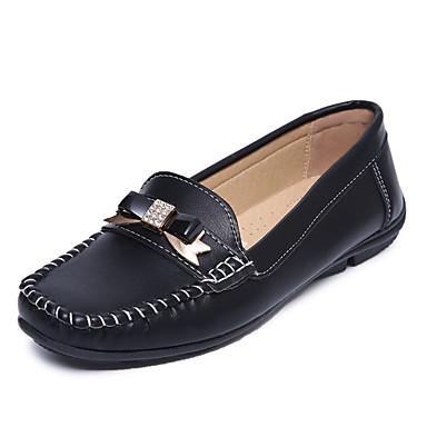 Naisten Kengät Tekonahka Kevät Syksy Comfort Mokkasiinit Tasapohja Pyöreä kärkinen Applikaatiot varten Kausaliteetti Toimisto & ura ulko-