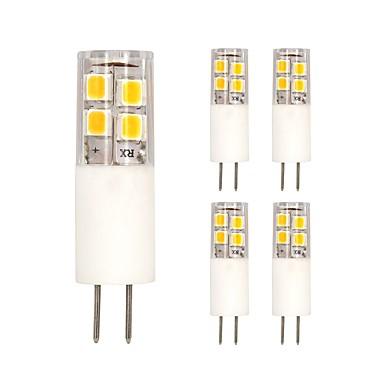 5pçs 3W 200lm G4 Luminárias de LED  Duplo-Pin T 19 Contas LED SMD 2835 Branco Quente / Branco Frio 12V / 5 pçs