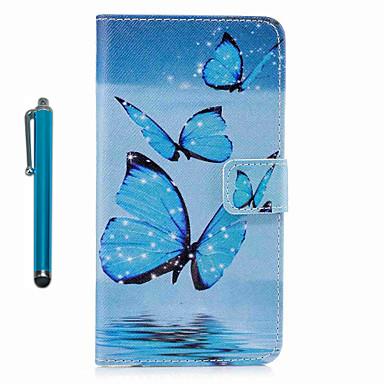 Capinha Para Samsung Galaxy S8 Plus S8 Porta-Cartão Carteira Com Suporte Flip Estampada Capa Proteção Completa Borboleta Rígida PU Leather
