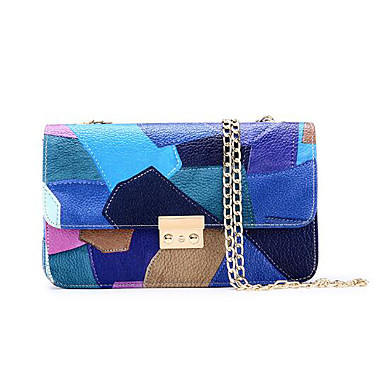 Women Bags All Seasons PU Shoulder Bag for Casual Outdoor Blue Red Amethyst