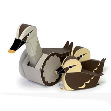 Quebra-Cabeças 3D Maquetes de Papel Artesanato de Papel Brinquedos de Montar Pato Animais Faça Você Mesmo Cartão de Papel Duro Clássico