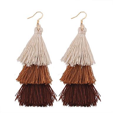 Women's Tassel Long Drop Earrings - Tassel, Vintage, Bohemian Blue / Pink / Khaki For Wedding Anniversary Housewarming