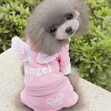 Hund Kjeledresser Hundeklær Engel Engel & Demon Blå Rosa Bomull Kostume For kjæledyr Herre Dame Fritid / hverdag