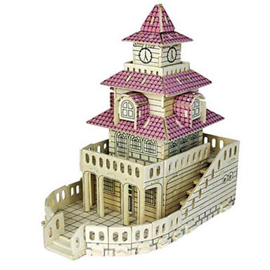 Quebra-Cabeças 3D Quebra-Cabeça Modelos de madeira Construções Famosas Arquitetura Outra 3D Faça Você Mesmo Madeira Madeira Natural