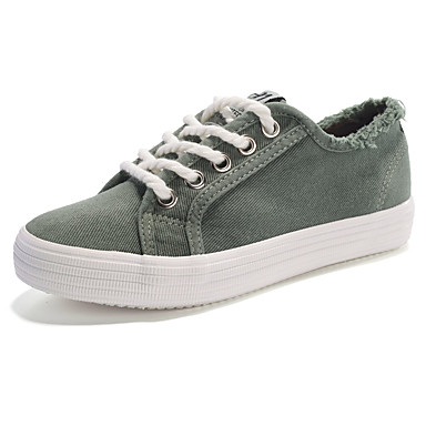 Women's Shoes PU Spring Fall Comfort Athletic Shoes for Outdoor White Gray Green Pink
