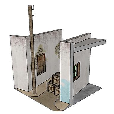 Quebra-Cabeças 3D Maquetes de Papel Artesanato de Papel Brinquedos de Montar Casa Simulação Faça Você Mesmo Clássico Unisexo Dom