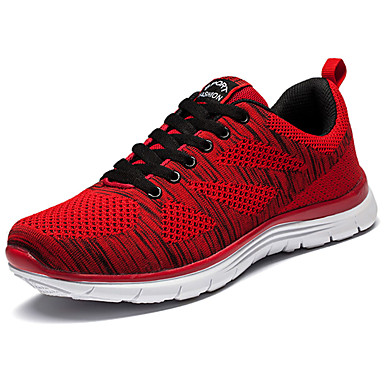 Men's Shoes PU Spring Summer Comfort Athletic Shoes Running Shoes for Casual Black Gray Red Blue
