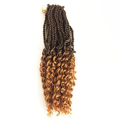 Göndör 100% kanekalon haj Emberi haj tincsek Pre-loop horgolt Zsinór Hair Zsinór Napi