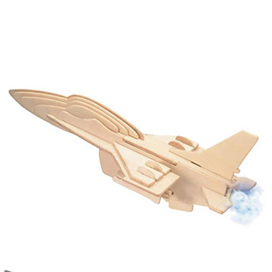 3D Puzzles Metal Puzzles Wood Model Model Building Kit Fighter Aircraft DIY Natural Wood Classic Kid's Adults' Unisex Gift