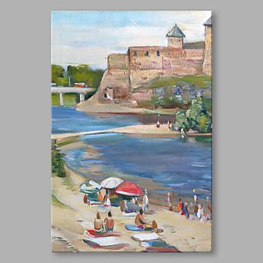 Pintados à mão Paisagem Vertical, Alta qualidade Tela de pintura Pintura a Óleo Decoração para casa 1 Painel
