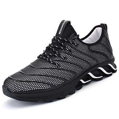 Homens sapatos Couro Ecológico Primavera Outono Conforto Tênis Corrida para Ao ar livre Branco Preto Vermelho Preto/Vermelho
