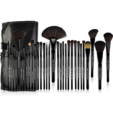 32pcs Professional Makeup Bürsten Bürsten-Satz- Pony Bürste / Nylon Pinsel / Künstliches Haar Antibakteriell Große Pinsel / Mittelgroße
