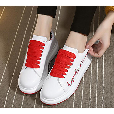 Women's Shoes Cowhide Summer Comfort Sneakers For Casual White Black