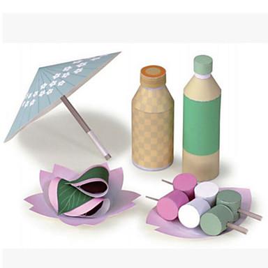 Quebra-Cabeças 3D Comida de Brinquedo Artesanato de Papel Comida realista Segura Para Crianças Faça Você Mesmo Plástico Cartão de Papel Duro Clássico Desenho Crianças Unisexo Brinquedos Dom