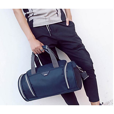 Men Travel Bag Polyester All Seasons Casual Outdoor Rectangle Zipper Blue Black Red